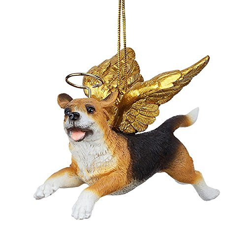 Christmas Tree Ornaments - Honor The Pooch Beagle Holiday Angel Dog -