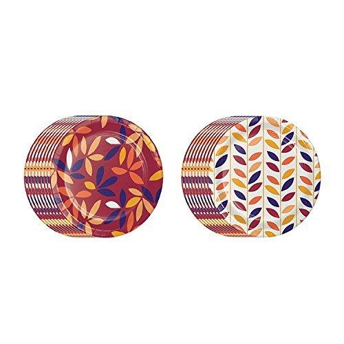 Autumn Jewels (Members Mark Fall/Autumn Jewel Jam Disposable Paper Plates 10.25