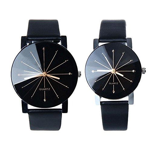 Men And Women Watch, FTXJ Luxury Quartz PU Leather Couple Wrist Watch - Glasses Cheap Polo
