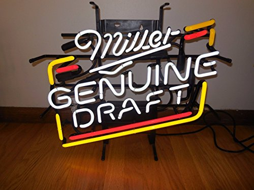 Urby® Miller Genuine Draft Neon Light Sign Beer Bar Pub Real Glass 17''x13'' High Quality! NA60
