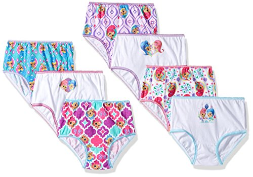 Nickelodeon Toddler Girls' Shimmer and Shine 7 Pack Underwear, Shimmer/Shine Assorted Prints, 4T (Underwear Nickelodeon Girls)