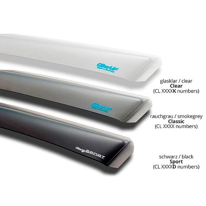 ClimAir Windabweiser vorne Farbe: rauchgrau -CLI0033146 -