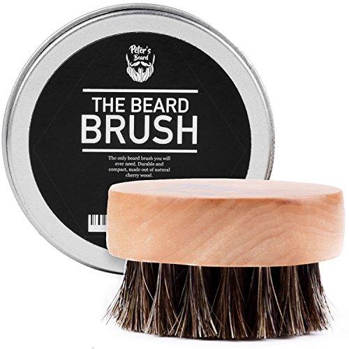 PETERS BEARD Bartbürste - Premium Ökologisch Bürste fur Professionelle Bartpflege Ideal für den Einsatz mit Bart Öl, Balsam - 5.5 cm Durchmesser - 2 Jahren Zufriedenheitsgarantie