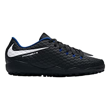 low priced e5833 ad69f Nike JR Hypervenomx Phelon III TF - Zapatillas de fútbol Sala, Unisex  Infantil, Negro - (BlackWhite-Game Royal) Amazon.es Deportes y aire libre