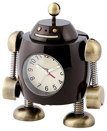ミニチュアクロックコレクション(MiniatureClockCollection)ミニチュア置時計 ロボット ブラウン 茶 アラーム AC3043-BR B07895QZYX