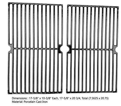 Porcelain Cast Cooking Grates For Backyard Classic GR3055-014684, Backyard Grill BGB390SNP, 810-9200-0, 810-9390-0 Gas Models, Set of 2