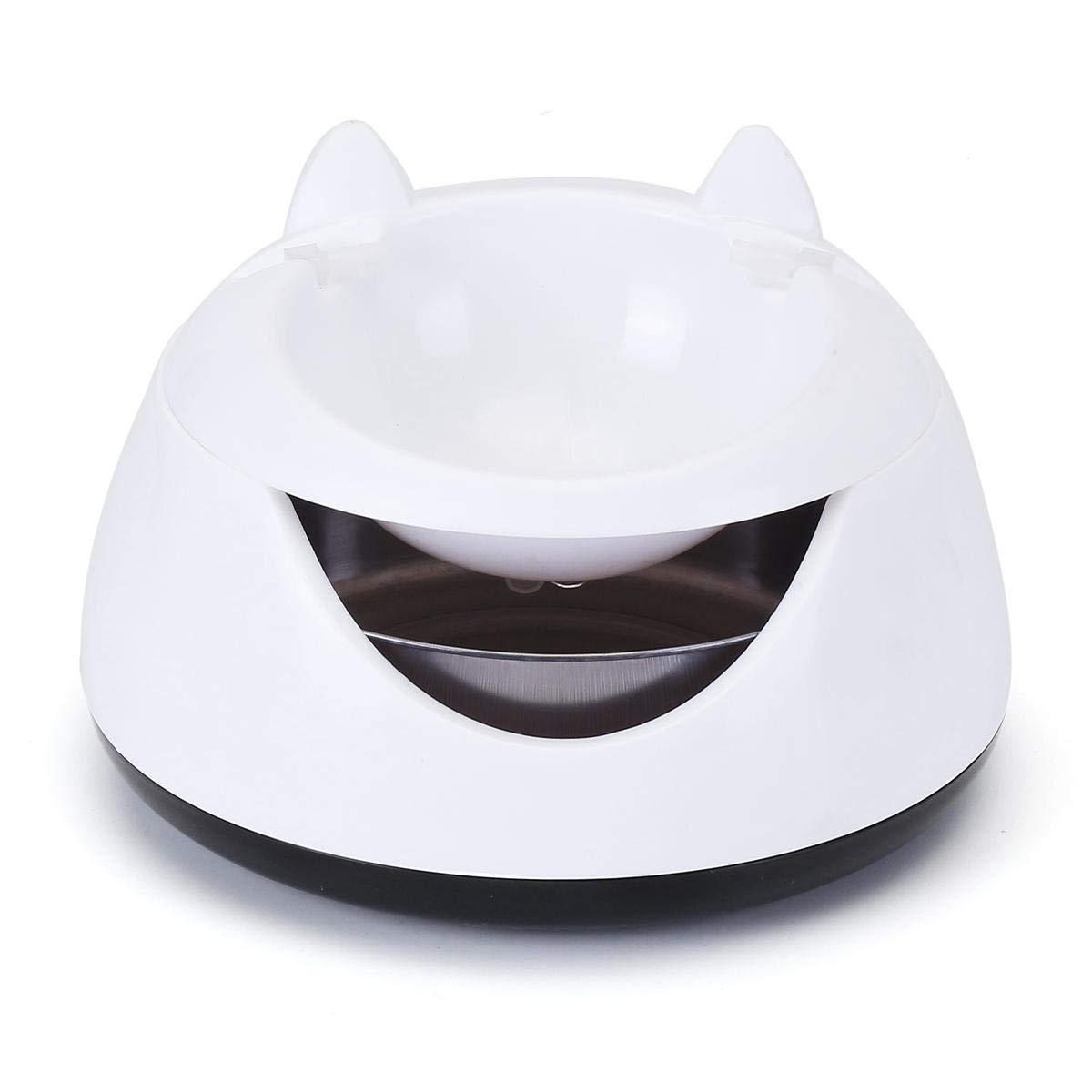 1.5L Cat Shape Water Dispenser Fountain Luminous Light Water Pet Bowl Pet Drinking Accessoirs  Beige 1