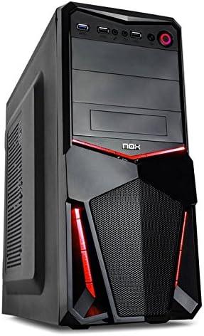 Nox PAX - NXPAX - Caja PC, ATX, USB 3.0, Color Negro Rojo: Nox ...