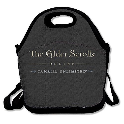 The Elder Scrolls Lunch Bag Lunch Tote, Waterproof Outdoor Travel Picnic Lunch Box Bag Tote With Zipper And Adjustable Crossbody Strap
