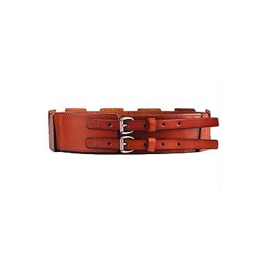 Cintura para mujer Cuero Cuero Cinturón ancho Hebilla elástica ...