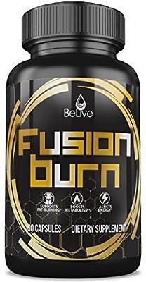 Fusion Burn Garcinia Cambogia Thermogenic Weight Loss Pills | Green Tea Extract, Green Coffee Bean, Raspberry Ketones, CLA, Apple Cider Vinegar- Fat Burner Pills for Women and Men - 90 Caps