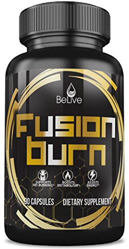 Fusion Burn Fat Burner Pills for Women and Men - Apple Cider Vinegar, Garcinia Cambogia, Green Tea Extract, Green Coffee Bean, Raspberry Ketones, CLA - Weight Loss Supplement All in One - 90 Caps