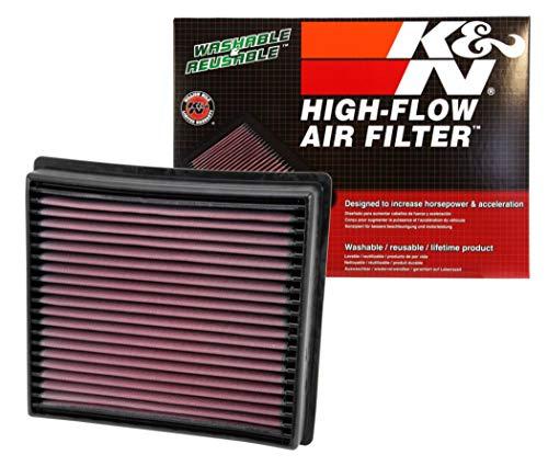K&N engine air filter, washable and reusable:  2013-2019 Dodge Ram Truck L6 DSL/V8 FI (2500, 3500, 4500, 5500) 33-5005