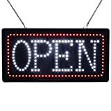 LED Open Sign Super Bright Electric Advertising Display Board for Message Business Shop Store Window Bedroom Barber Shop Beauty Hair Salon Nails Spa Massage Manicure Pedicure 19'' x 10''