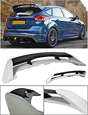 VXMOTOR 2013-2017 Ford Focus 4DR Hatchback ABS Plastic Rear Roof Trunk Wing Spoiler RS Style