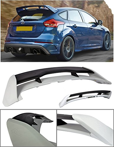 VXMOTOR 2013-2017 Ford Focus 4DR Hatchback ABS Plastic Rear Roof Trunk Wing Spoiler RS Style ()