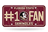 Rico NCAA Florida State Seminoles #1 Fan Metal License Plate Tag