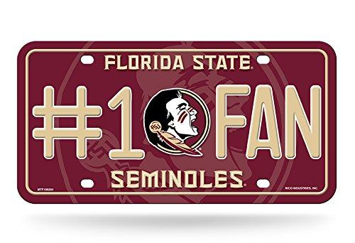 Rico NCAA Florida State Seminoles #1 Fan Metal License Plate Tag by Rico