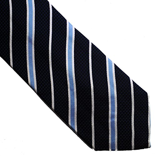 119navy STRIPED pure silk FLORAL Blue neckties 100 woven YXwpnq