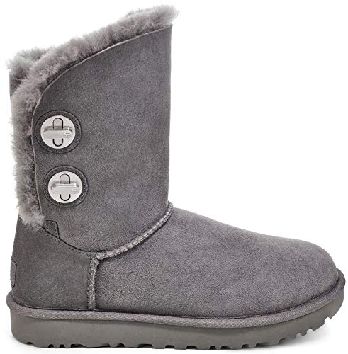UGG Womens Classic Short Turnlock Boot, Charcoal, Size 7