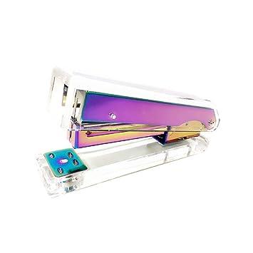 Amazon.com: Grapadora de acrílico transparente con diseño ...