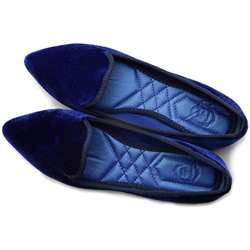 Comfort Multi Ballet Womens Ollio Shoe Warmth Flat Navy Color T4RxZO