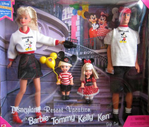 Land Gift Set - Disneyland Resort Vacation Gift Set Mattel Barbie Tommy Kelly Ken