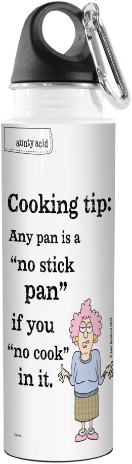 Tree-Free Greetings VB47913 Aunty Acid Artful Traveler Stainless Steel Water Bottle 18-Ounce No Stick