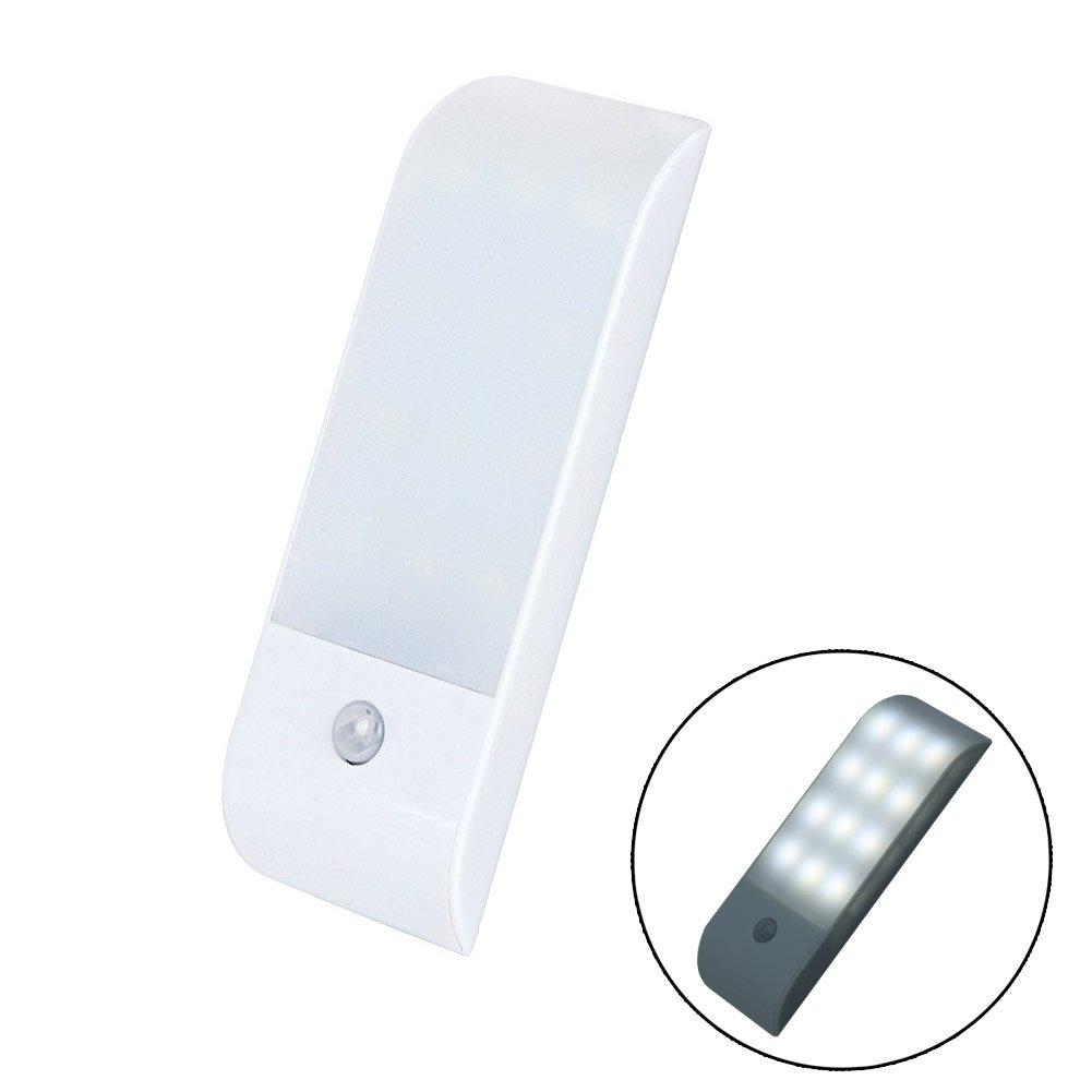 Wildlead Sensor de movimiento LED Luz nocturna de 12 LED Listó n magné tico Stick On Armario Armario iluminació n