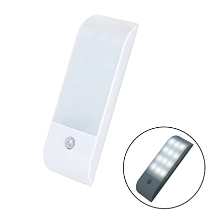 Wildlead Sensor de movimiento LED Luz nocturna de 12 LED Listón magnético Stick On Armario Armario