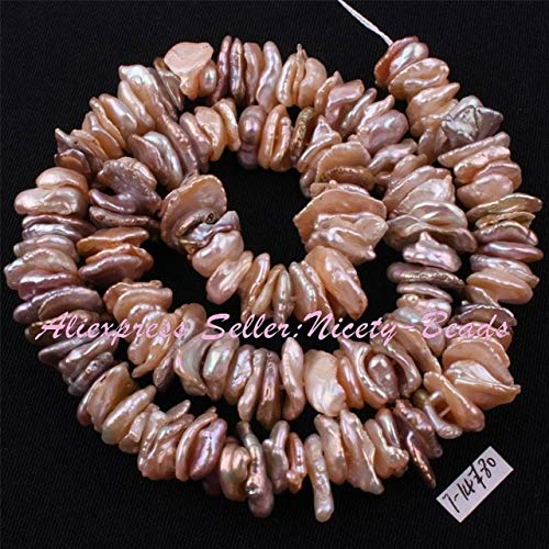 Calvas 7-14mm Baroque Freshwater Pearl Beads Natural Stone Beads for DIY Necklace Bracelets Earring Jewelry Making 14.5