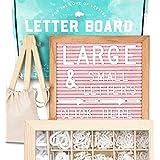 Felt Letter Board 10x10 (Pink) +690 PRE-Cut Letters +Cursive +UPGRADED WOODEN Sorting Tray | Letter Board with Letters, Letters Board, Letter Boards, Letterboard, Word Board, Message Board, Changeable (Color: Pink, Tamaño: 10x10)
