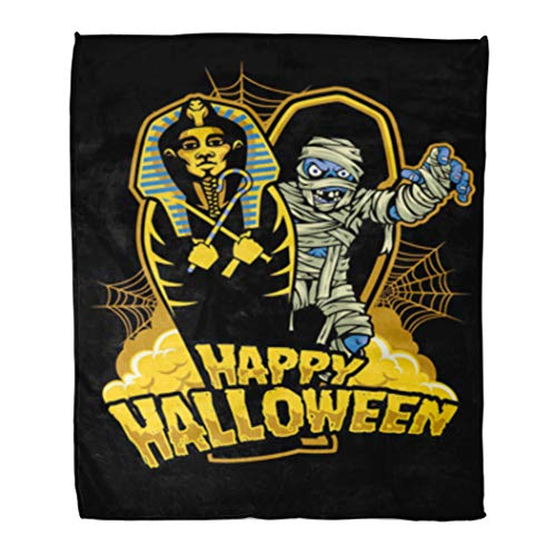 Golee Throw Blanket Coffin Halloween Mummy Out from