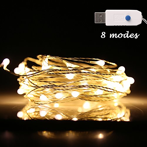 10M 100 Led String Fairy Lights In Warm White - 7