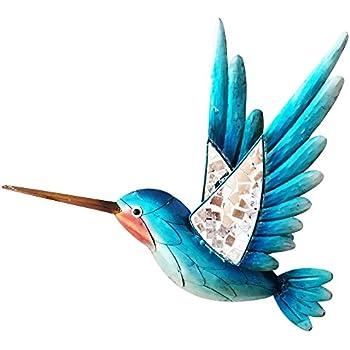 Amazon.com: Hummingbird and Flowers Metal Wall Art Home ...