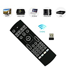 niceEshop(TM) MX3 2.4G Updated Mini Wireless Keyboard Mouse Multifunctional Infrared Remote Control for Android Smart TV Box G Box IPTV HTPC Mini PC Windows IOS MAC Linux PS3 Xbox Backlit