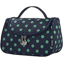 Cosmetic Bag, Toiletry Bag, Yeiotsy Polka Dots Travel Cosmetic Bag / Makeup Bag for Women