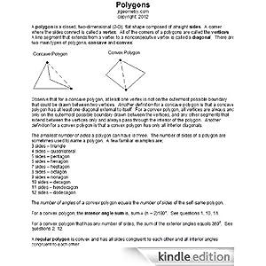 Polygons (Geometry Study Guide Downloads) jrgeometry