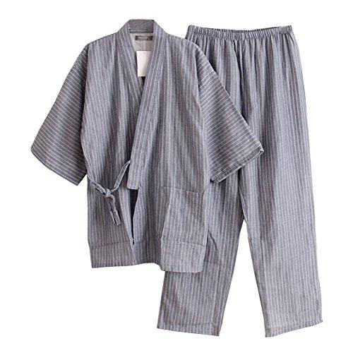 Uomo Pigiama Di Con Da Colour Meditazioni Pumpkin Kimono 01 In Set Fancy Stile Giapponese wqavHXxn