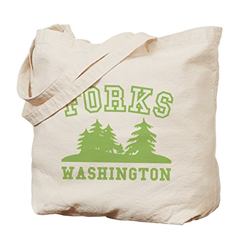 Cafepress forchette – Washington – Borsa di tela naturale, tessuto in iuta