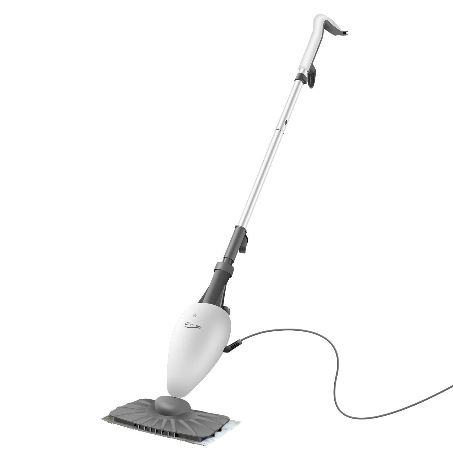 LIGHT 'N' EASY Steam Mop Floor Steamer for Cleaning with Swiveling Steamer Mop Head for Tile,Grout,Laminate,Hardwood,Carpet Steamer,Professional 5 in 1 Steam Mops Steamer Cleaner