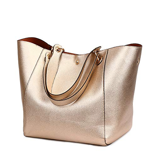 Bags Ladies Bags Tote Large Capacity Soft Gold Rose Classic Handbags Leather Cross Body PU Bag Retro for Leather Tote Handbags Ladies Women Shoulder vqxFqRdwS