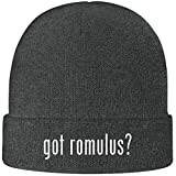 One Legging it Around got Romulus? - Soft Adult Beanie Cap, Grey