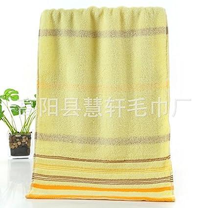 XXIN Toallas De Algodón Puro 32 Compartir Toallas Toallas Diariamente Cara Luz Amarilla 32 * 70
