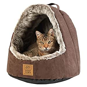 Amazon.com : House of Paws Hooded Arctic Cat Bed : Pet