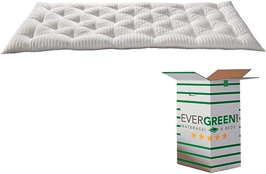 EvergreenWeb - Mejor Topper Colchón Individual 90x190 en Espuma Viscoelástica de 8 cm de Altura con Acolchado de 100% Arco Suave, Corrector para ...
