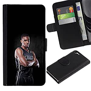 Stuss Case / Funda Carcasa PU de Cuero - Miami Jugador de Baloncesto - Apple Iphone 5 / 5S