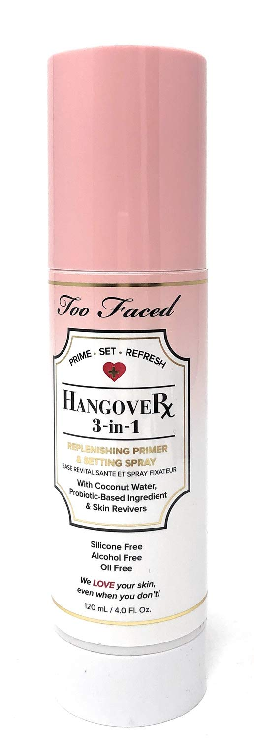 Too Faced Hangover Rx 3 in 1 Replenishing Primer & Setting Spray 4 OZ by Too Faced