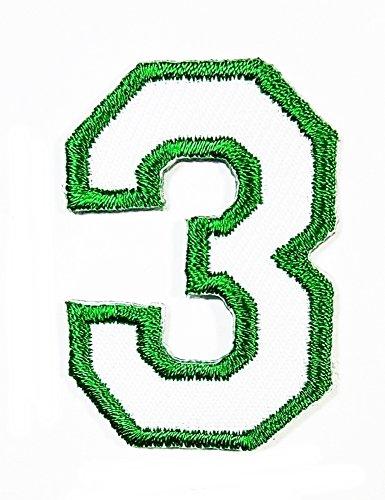 green applique numbers - 3