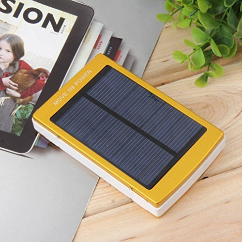 Gold 80000mAh two USB compact Solar Battery Charger power Bank For Cell contact compact power Banks